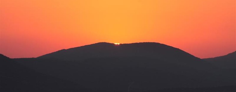Safed INN - SUNSET OVER MT. MEIRON (Large)